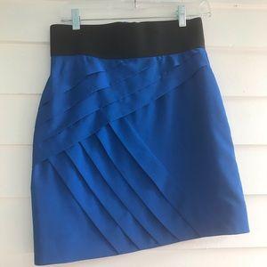 Gianni bini royal blue mini skirt